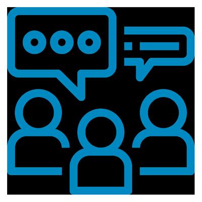 Facilitated discussion icon